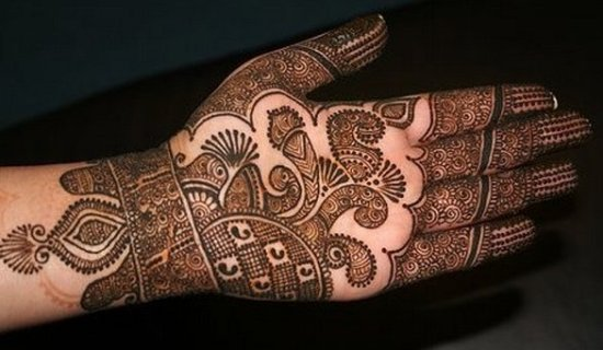 abstract mehndi design