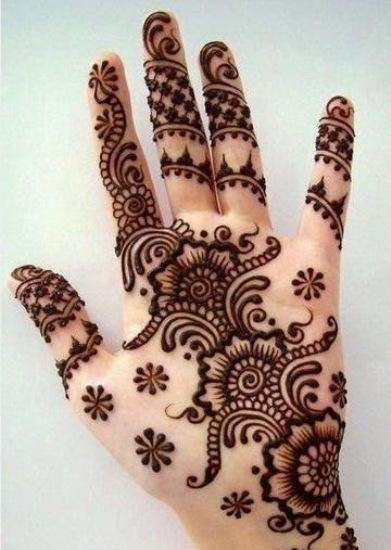 latest mehandi designs for girls