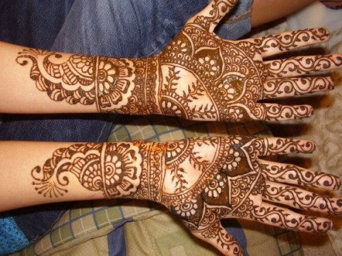 usual mehndi design