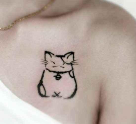 Cat tattoo designs 8