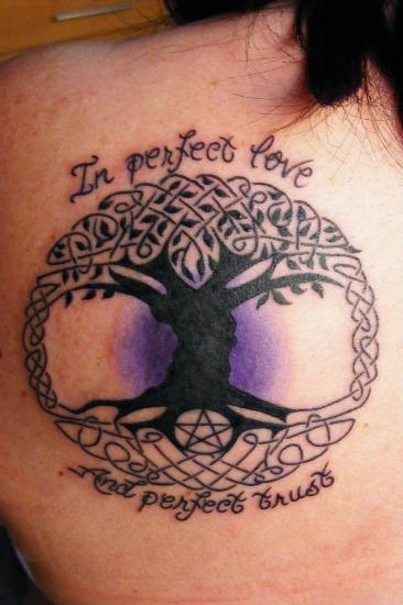 Celtic family tattoo design