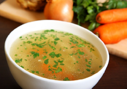 chicken soup treatment for cough and cold