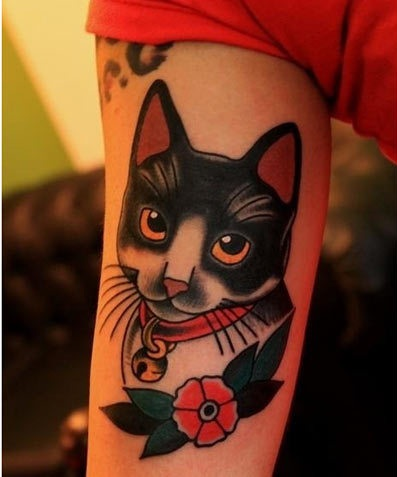 15 best cat tattoo designs with meanings styles at life for Cool cat tattoo