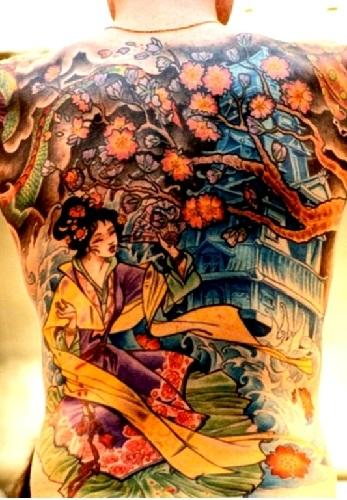 Geisha Amidst Nature