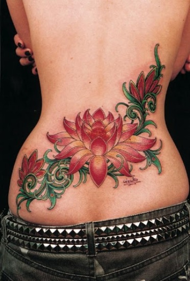 Lotus flower tattoo 1