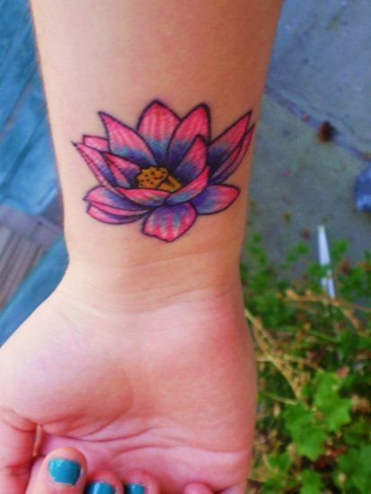 Lotus flower tattoo 6