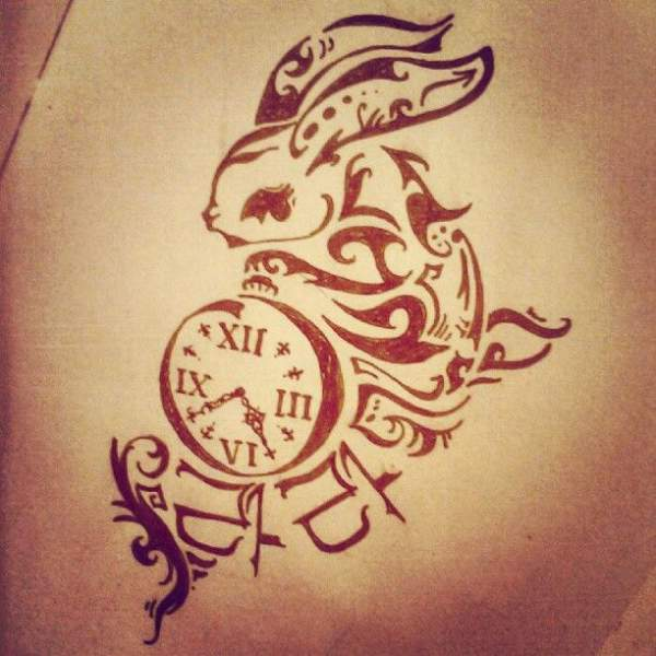 15 best clock tattoo designs styles at life. Black Bedroom Furniture Sets. Home Design Ideas