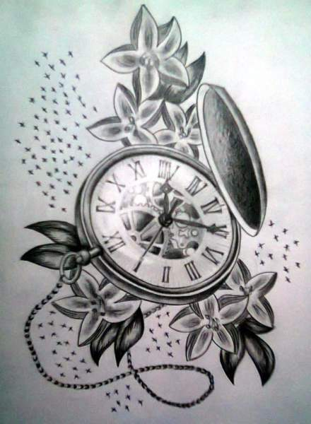 b46bd6026 15 Best Clock Tattoo Designs | Styles At Life