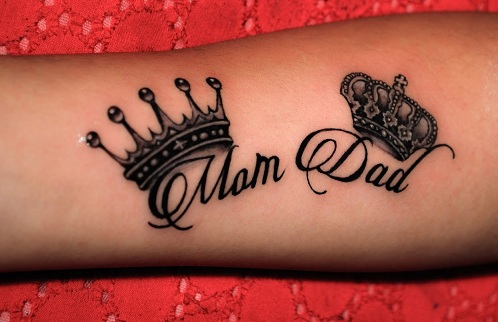 15 cool dad tattoo designs for men and women for Tattoos symbolizing parents