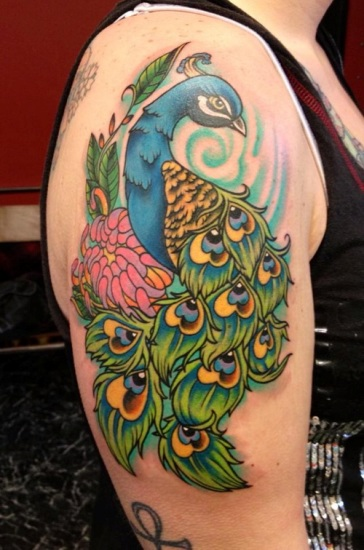 Peacock tattoo designs 2