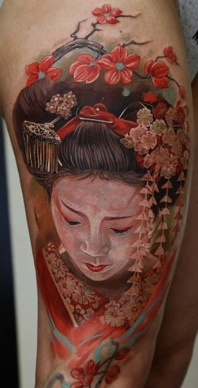 Red in lust geisha