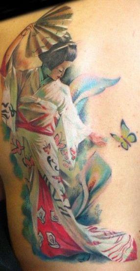 The full figure geisha