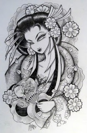 The monochrome geisha