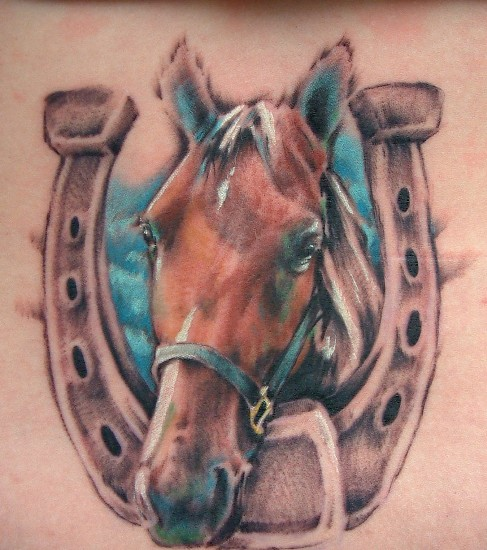 horseoshe tattoo 9