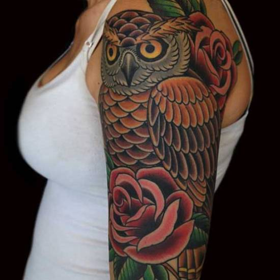 15 Cute Owl Tattoo Designs And Meanings Styles At Life