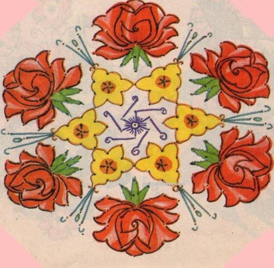 flower kolam rangoli