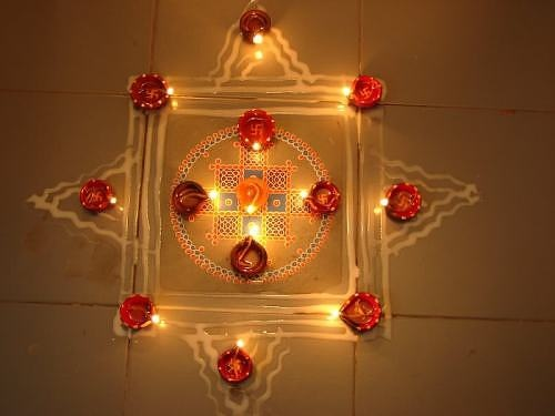 Diwali kolam rangoli designs