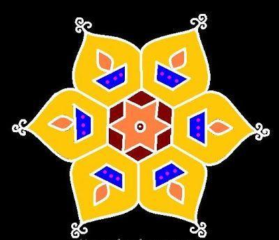 Best Kolangal Rangoli Designs 13