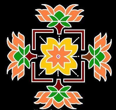 Best Kolangal Rangoli Designs 15