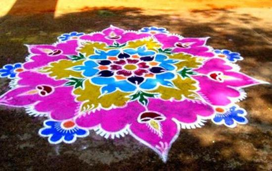 Best Kolangal Rangoli Designs 6