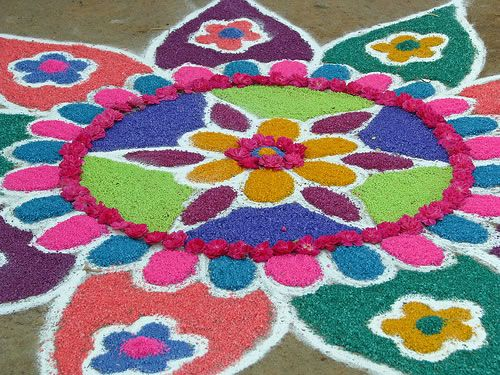 Best Kolangal Rangoli Designs 8
