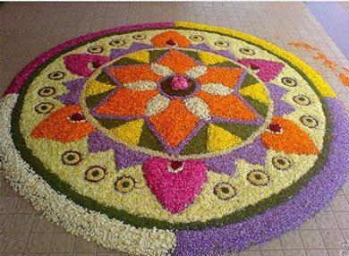 Flower rangoli designs 5