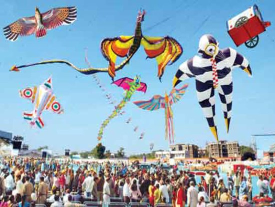 festivals of gujarat - International Kite Festival