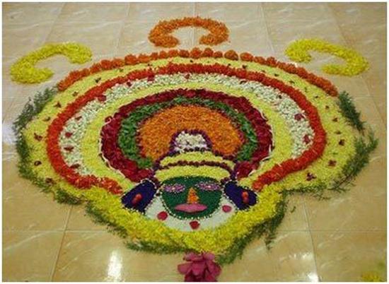 Kathakali Dancer Headgear Design