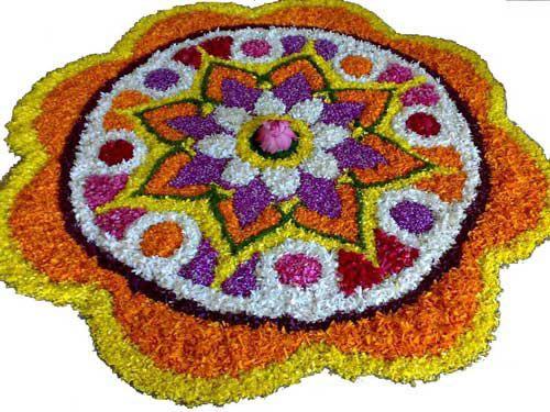Pookalam Rangoli Designs 10
