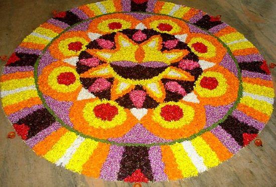 Pookalam Rangoli Designs 13