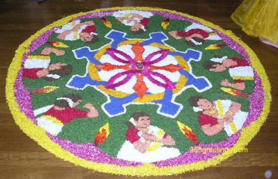 Pookalam Rangoli Designs 15