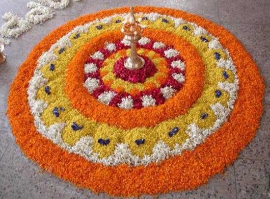 Pookalam Rangoli Designs 5