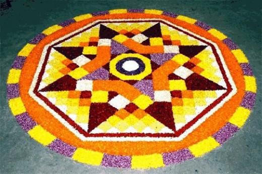 Pookalam Rangoli Designs 7