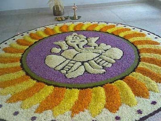 Pookalam Rangoli Designs 9