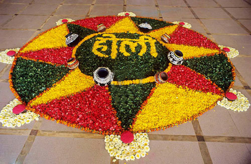 holi flower rangoli designs