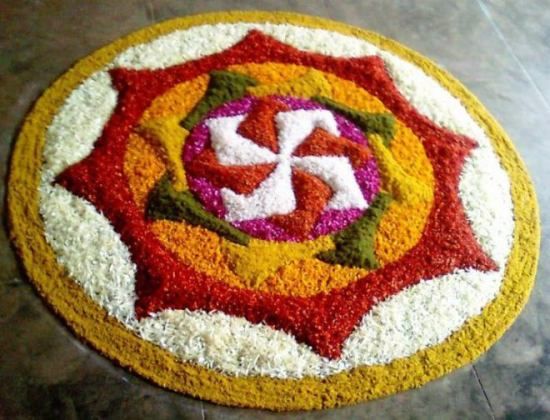 Rangoli Designs with Flowers 3