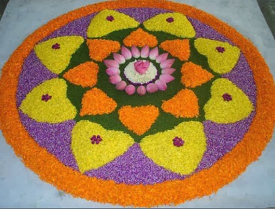 beautiful rangoli designs with flowers