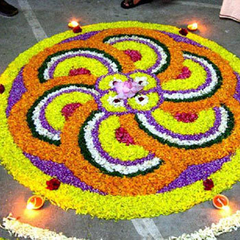 Rangoli Designs with Flowers 6