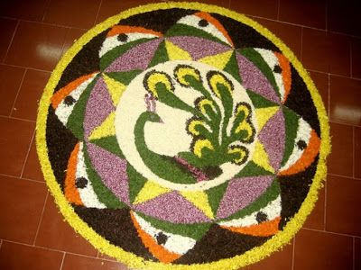 Rangoli Designs with Flowers 7