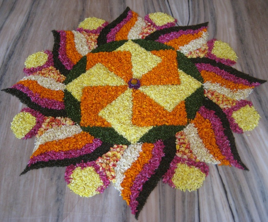 Rangoli Designs with Flowers 9