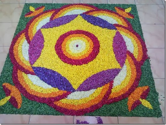 rangoli designs with flowers