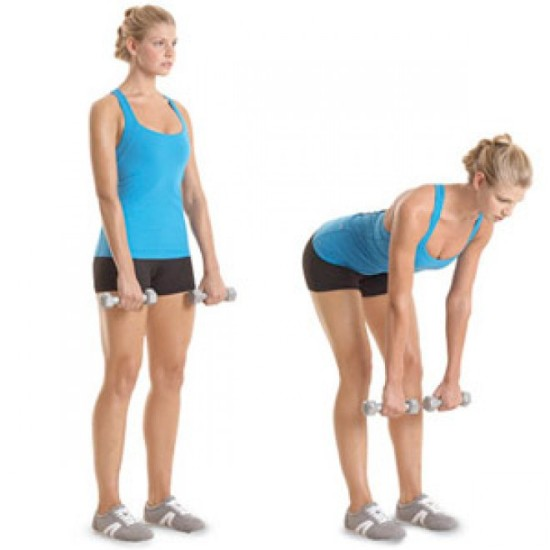Dumbbell Stiff Legged Deadlift