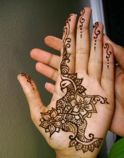 Traditional Indian Mehndi design