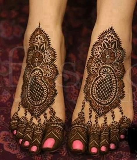 Foot Indian Mehndi Design