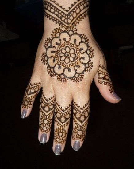 indian mehandi designs for hands
