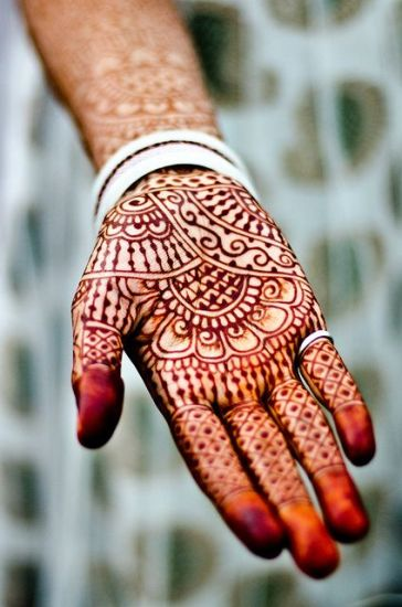 Reddish Indian Mehndi Design