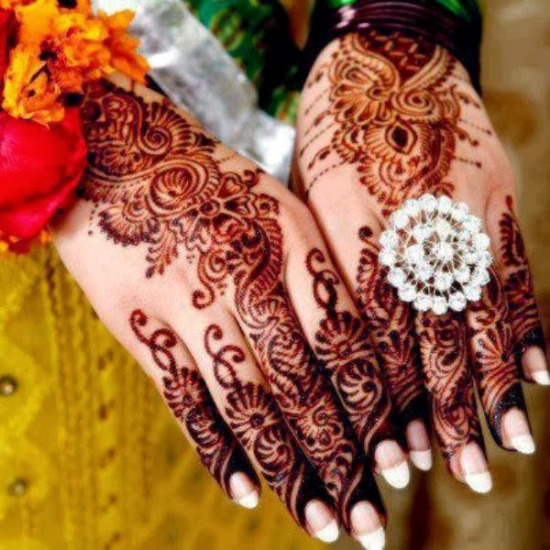 Patterned Pakistani Mehendi Designs for Occasions