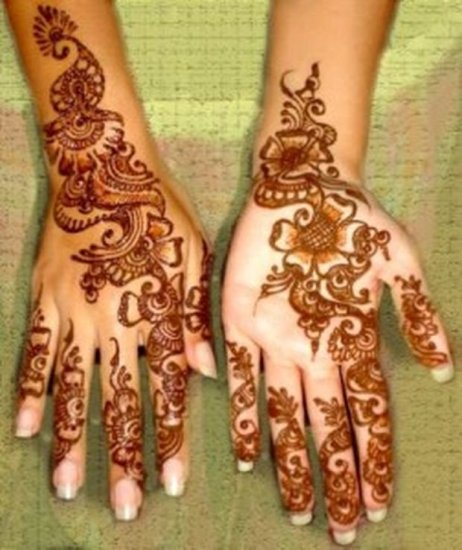 Trendy Pakistani Dark Mehndi Design