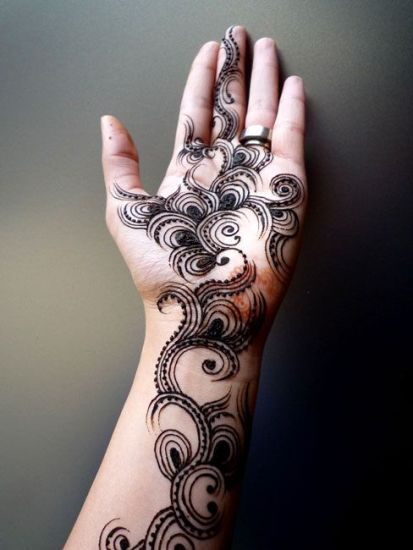 Modern Pakistani Mehandi Designs for Full Hands