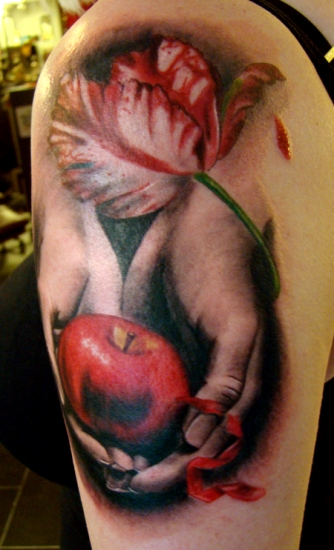 The twilight apple tattoo